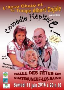 affiche Comédie HôpitalE - Chateauneuf